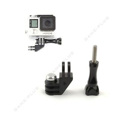 90 Degree Direction Adapter Elbow Mount + Thumb Screw For GoPro Hero 4 3+ Camera