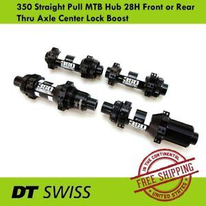 DT Swiss 350 Straight Pull Hub 28H 15x100//12x142mm Thru Axle-Center Lock F//R//Set