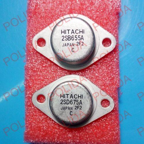 1 paire transistor HITACHI TO-3 2SB655A//2SD675A B655A//D675A 100/% d/'origine