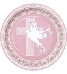 Pink Dove Cross Luncheon plates (8pcs) 9\