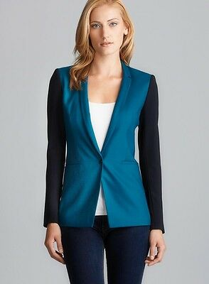 Elie Tahari Bethany One Button Colorblock Jacket, Blazer $398, Sz 4 NWT!