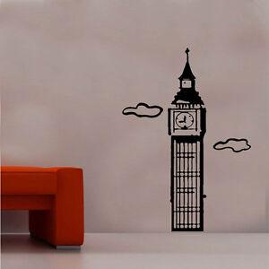 Big Ben Decal Autocollant Mural Vinyle Art Monde Pays Silhouette-afficher Le Titre D'origine Technologies SophistiquéEs