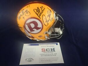 70-GREATEST-Redskins-Signed-Auth-Mini-Helmet-W-14-Autographs-SCH-29201-Auth