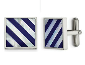 Mens-Mother-of-Pearl-Striped-Cuff-Links-in-Stainless-Steel