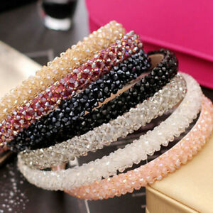 Bling-Rhinestone-Crystal-Women-Girls-Headwear-Headband-Hairband-Hair-Accessories