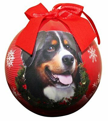 "Cat Supplies Dependable ""bernese Mt Dog Christmas Ornament"" Shatter Proof Ball Easy To Personalize"