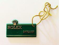 ROLEX Rare Vintage Green Tag Hangtag DATEJUST 1970´s ORIGINAL OEM Rolex Datejust