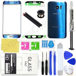 8fc33b31710 Blue Samsung Galaxy S7 Edge G935 Front Screen Lens Back Glass ...