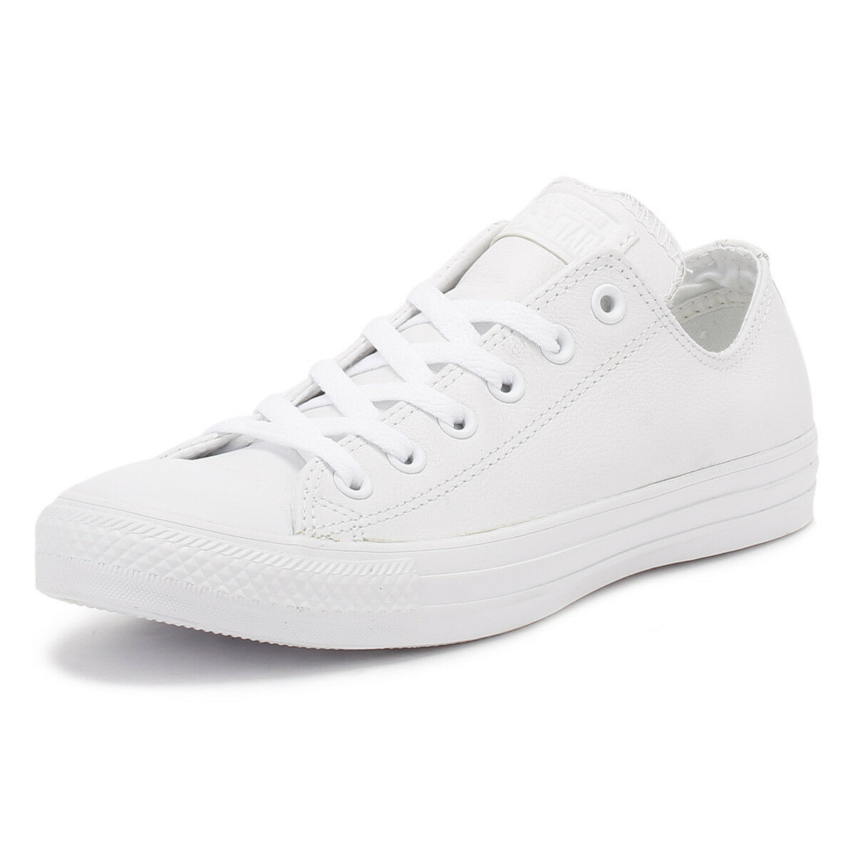 Converse Unisex White All Star OX Low Leather Trainers Mens Womens Sneakers