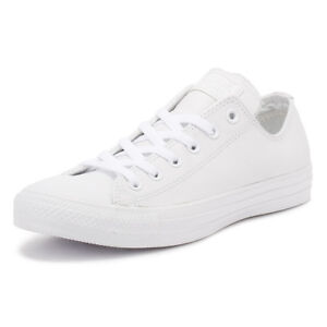 Converse One Star Ox Donna White Red Pelle Scarpe da Ginnastica 5.5 UK