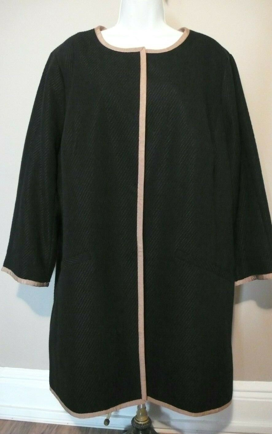 TALBOTS NWT  Textured Cotton Blend Lined Coat  Trench Coat Sz 18W