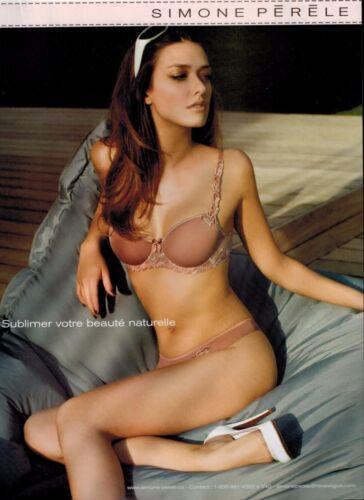 BRA /& PANTY    French Magazine  PRINT AD LINGERIE 2009 SIMONE PERELE