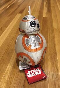 NWT-Disney-Star-Wars-Robot-Droid-BB8-7-5-Plush-figurine-toy-Doll-Head-Turn-Small
