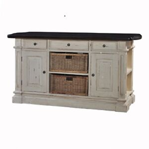 Large Kitchen Counter Island With Baskets Bar Antique