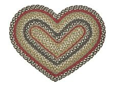 IHF Home Decor Heart Shaped Braided Area Rug 20 X 30 Kensington Design
