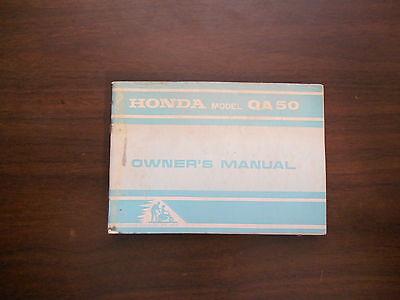 honda qa50 wiring diagram 1974 honda qa50 owners manual ebay  1974 honda qa50 owners manual ebay