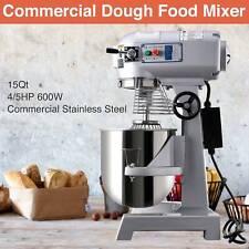45hp 15qt Commercial Bakery Mixer Dough Blender Food Mixer Gear Driven 600w