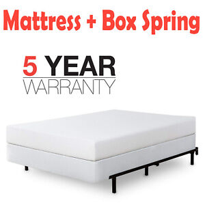 Green Tea Foam Mattress And Metal Box Spring Foundation