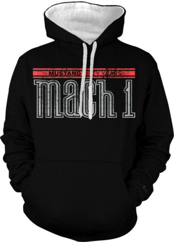 Ford Mustang Mach 1 Fifty Years V8 5.0 Hotrod Muscle Car 2-tone Hoodie Pullover