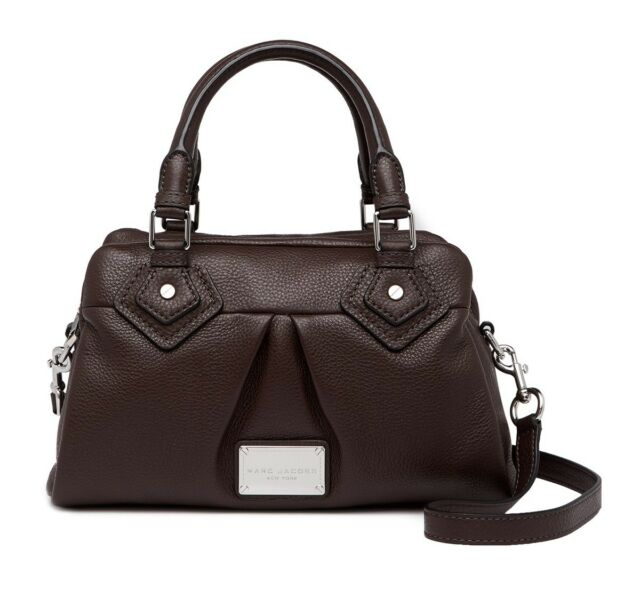 8eb3655c4e8c Marc Jacobs Classic Leather Satchel Color SEAL Style   M0011305 New + Tags