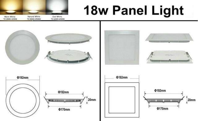 Dimmable CREE LED Recessed Ceiling Panel 6W/9W/12W/15W/18W/21W Down Lights
