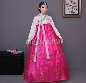 Image Is Loading Korean Traditional Hanbok Dress National Costumes Women