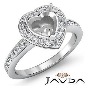 Diamond-Engagement-Ring-Heart-Semi-Mount-18k-White-Gold-Halo-Pave-Setting-1Ct