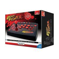Arcade Fighter Playstation 3 Black Joystick 12' Usb Cable Dreamgear