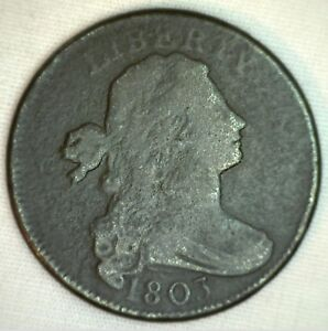 1803 Draped Bust Copper Large Cent Early Penny Type Coin Circulated Very Good 1c