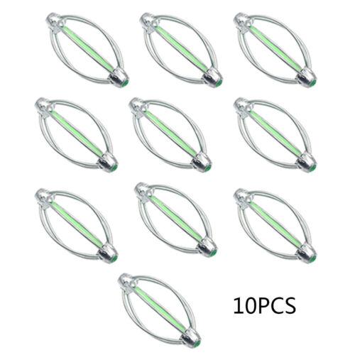 10PCS 6-Wire Method Carp Fishing Feeder Swim Feeders Spring Lead Sinkers Tackle