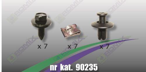Unterfahrschutz Clips Schrauben für Hyundai i30/'07-/'11 Kia Ceed/'06-/'12
