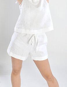 100% Leinen Flachs Boxershorts Damen Shorts Soft Handarbeit AusgewäHltes Material