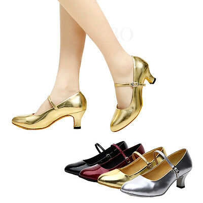 Glitter Women Lady Tango Ballroom Latin Salsa Waltz Dance Shoe Heeled Party Prom