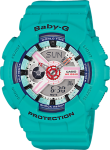 Casio-Baby-G-BA-110-Series-Sporty-Sneaker-Color-Teal-Semigloss-Watch