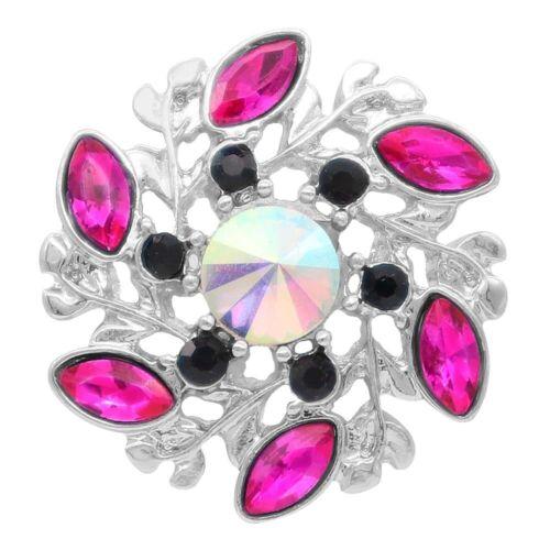 Button Klick 7945 Pink  Kristall 20mm für Chunk Armband