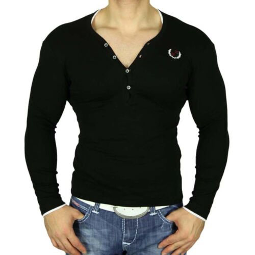 Eksi 1 manica lunga profonda V-Neck Felpa Maglioncino Taglio Lungo T-shirt 3484 jp74