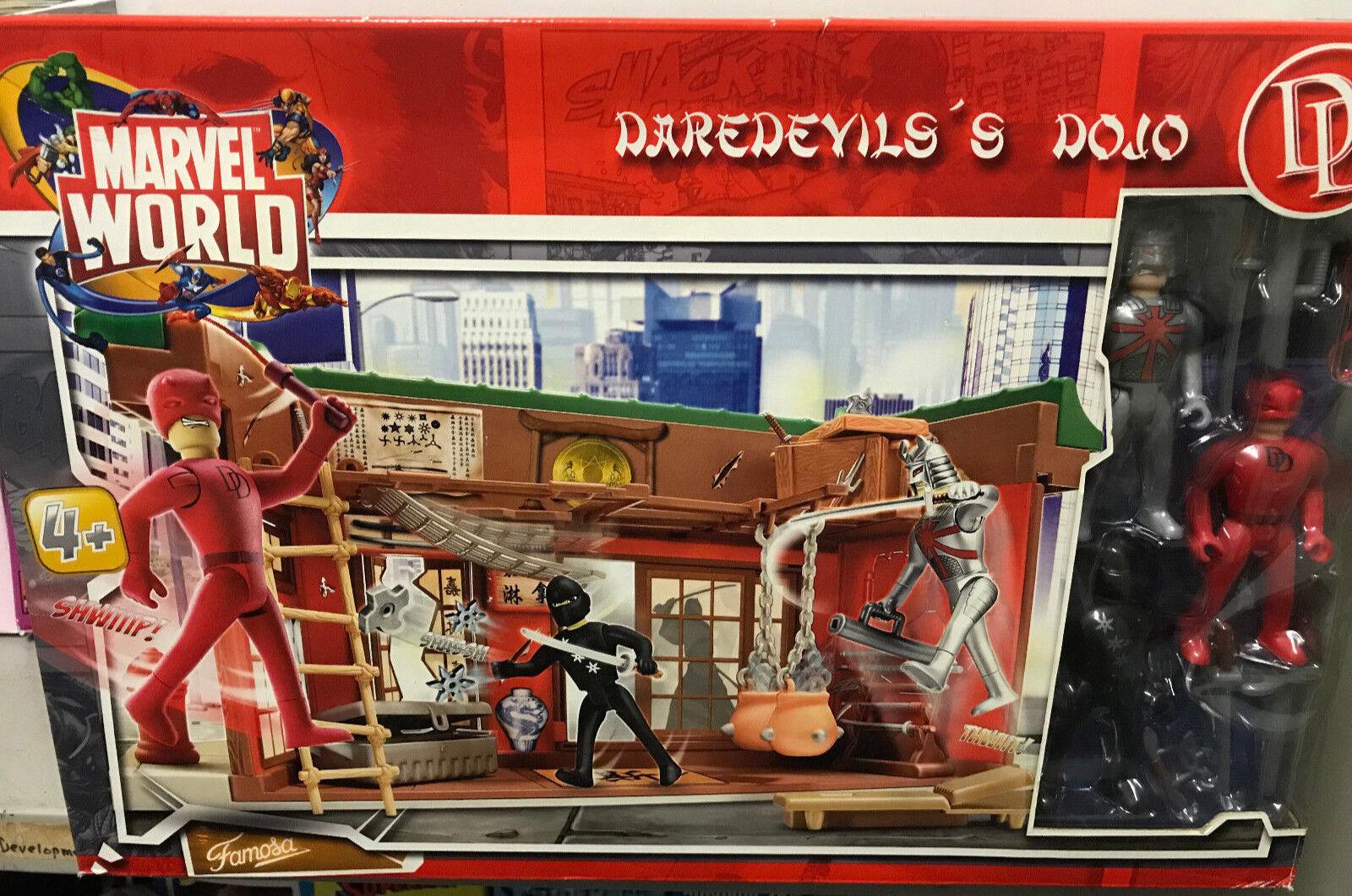 Daredevil's Dojo Playset  Super Rare  Marvel World Famosa toys