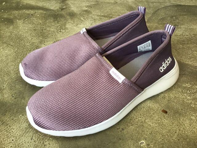 adidas Women's Cloudfoam Lite Racer Slip on Shoes Legacy Purple/white Size 6