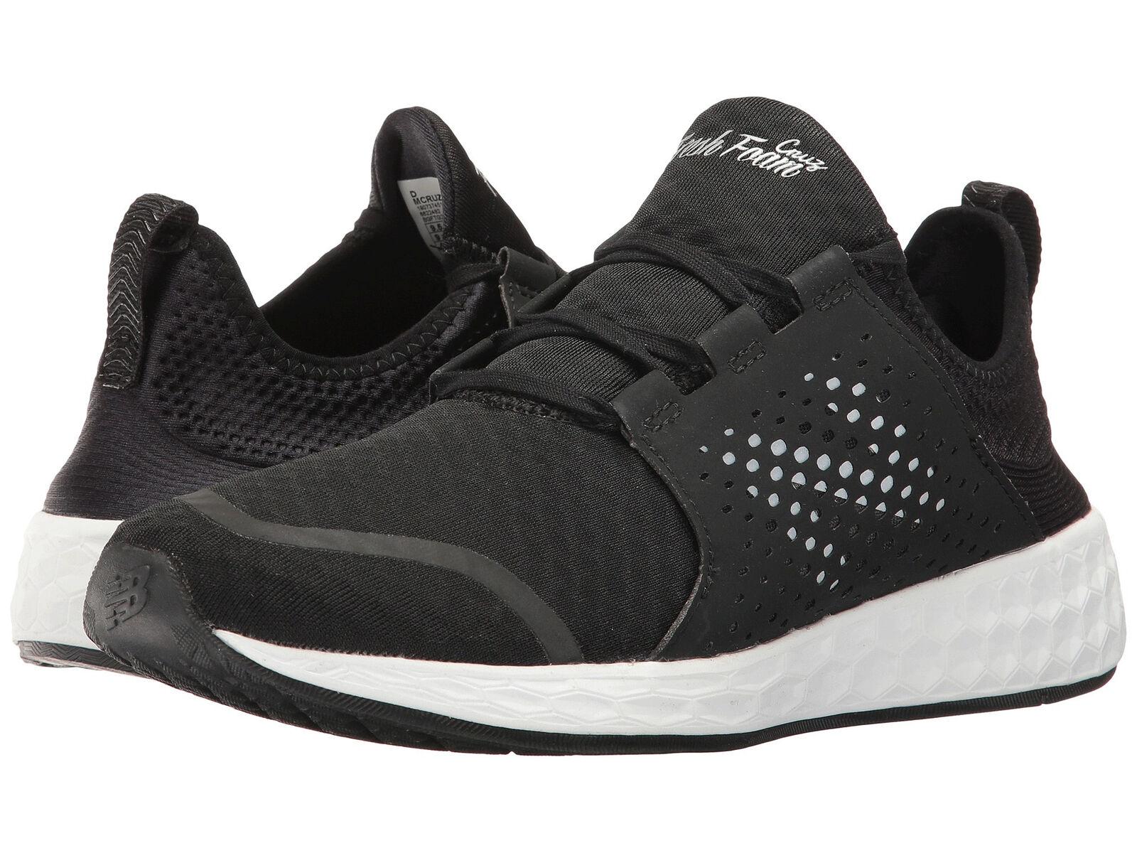 New Balance Men's Fashion Sneakers Fresh Foam Cruz Black White MCRUZBK