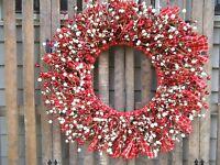 Valentine's Day Wreath Valentine's Day Decor Rustic Wreath Red Wreath
