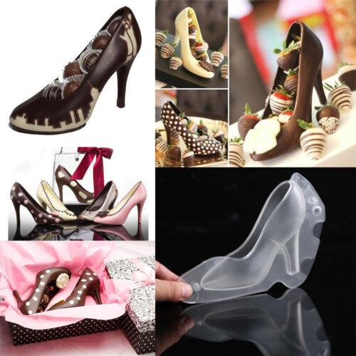 Kunststoff Schokoladenform Kuchenform Ausstecher Fondant Pumps Damenschuh 3D CN