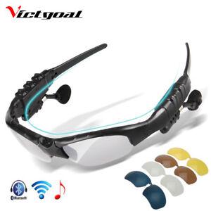 Gafas-de-Sol-Ciclismo-Ciclista-Polarizadas-Bluetooth-MP3-5-Lentes-Sunglasses