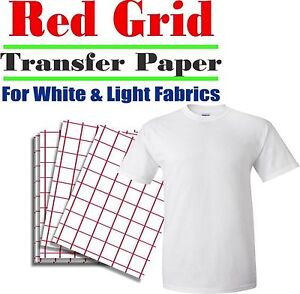 HEAT-TRANSFER-PAPER-RED-GRID-IRON-ON-LIGHT-T-SHIRT-INKJET-PAPER-100-PK-8-5-034-X11