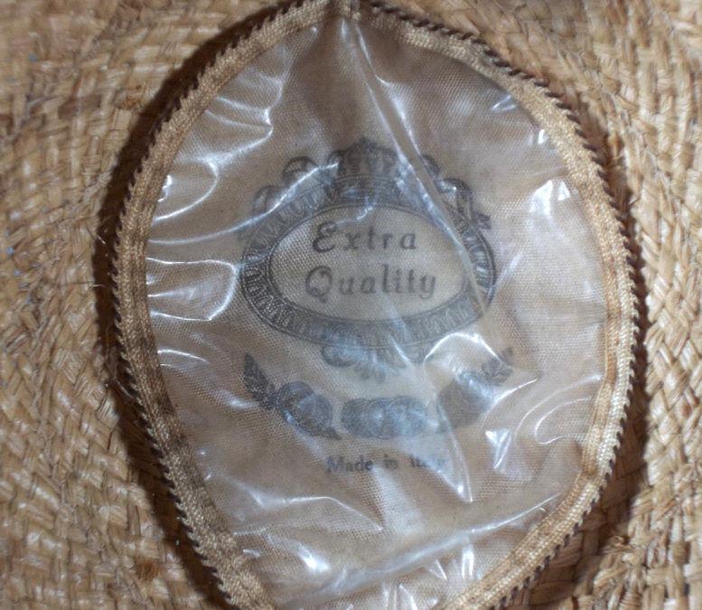 Authentic c.1900 Antique Men's Straw Golf Cap Vin… - image 5