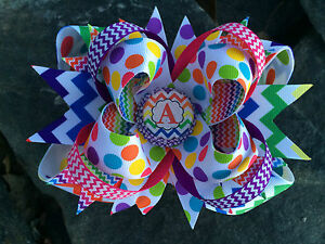 CHEVRON-PERSONALIZED-INITIAL-BOTTLECAP-HAIRBOW
