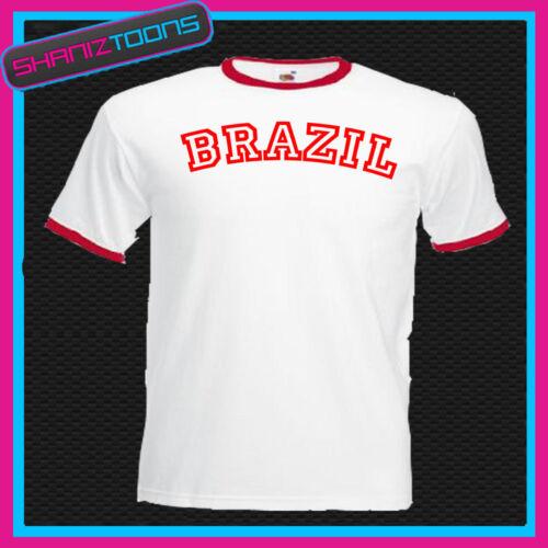 BRAZIL RINGER RETRO FUNNY TSHIRT