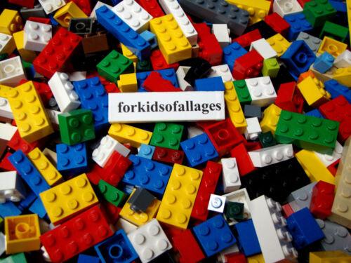 200 Pc Bulk Lot ONLY LEGO BRICKS BLOCKS Mixed Sizes 100/% Lego All Basic Building