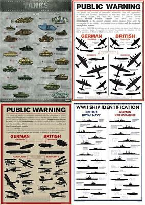 A3 World War 1 Public Warning Aircraft Identification Poster