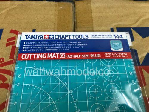 TAMIYA 74144 Cutting Mat Alpha A3 Half Size Blue Craft Tools