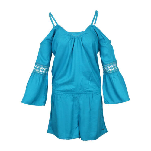 ROXY WOMENS ISLAND JOY ROMPER MOSAIC BLUE MSRP $59.50